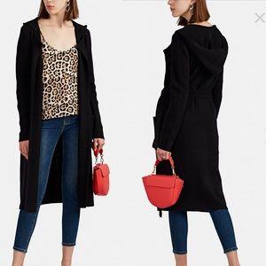NWT ATM Black Felt Hooded Cardigan Coat Size XS
